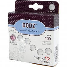 Dodz Adhesive Dots 3D, dia. 12 mm, tjocklek 2 mm, , large, 100st.
