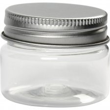 Plastburk med lock, H: 35 mm, dia. 45 mm, , 10st., 35 ml