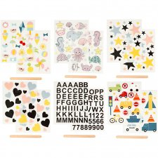 Rub-on stickers, 12,2x15,3 cm, , 12ark