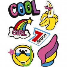 Soft Stickers, 12,2x17,75 cm, , Cool Girl, 1ark