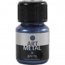 Art Metal färg, galaxyblå, 30ml