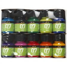 A-Color Glas, mixade färger, 10x30ml