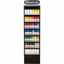 Schmincke AKADEMIE® Acryl color, mixade färger, inkl. display, 118x500ml