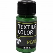 Textile Color, brilliant grønn, pearl, 50ml