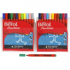 Berol Colourbroad, spets: 1,7 mm, dia. 10 mm, mixade färger, 24st.