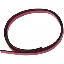 Imiterat läderband, B: 10 mm, tjocklek 3 mm, rosa, 1m
